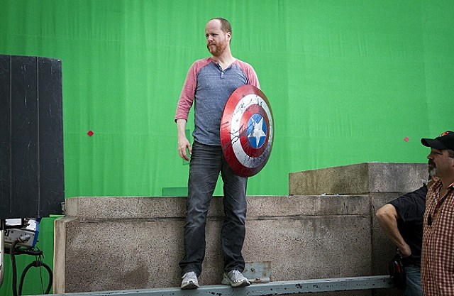 Joss Whedon on the set of 'The Avengers'